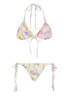 LoveShackFancy - Women's Harbor Printed String Bikini Set - Floral - Moda Operandi