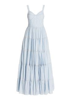 LoveShackFancy - Women's Story Striped Cotton Maxi Dress - Blue/pink - Moda Operandi