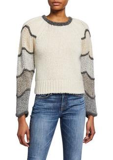 LoveShackFancy Aspyn Long-Sleeve Alpaca Sweater