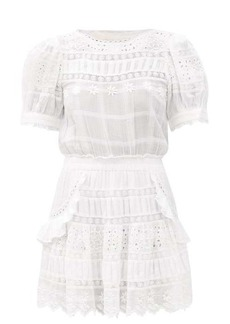 LoveShackFancy Augustine broderie-anglaise cotton dress