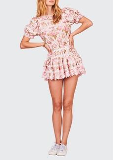 LoveShackFancy Augustine Floral Mini Dress