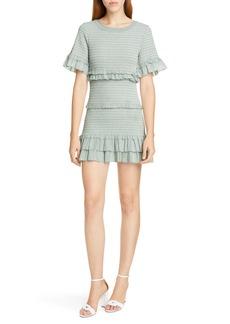 LoveShackFancy Aveline Smocked Minidress