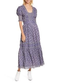 LoveShackFancy Ayla Floral Puff Sleeve Dress