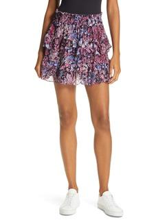 LoveShackFancy Benicia Ruffle Miniskirt