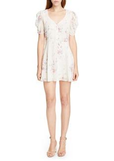 LoveShackFancy Cora Floral Silk Minidress