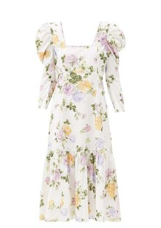 LoveShackFancy Ellington floral-print cotton-corduroy dress
