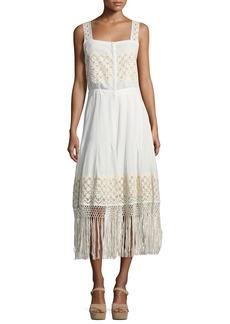 Loveshackfancy Eve Eyelet Cotton Maxi Dress