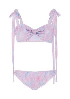 LoveShackFancy Ginger Tie-Detailed Floral-Print Bikini Set