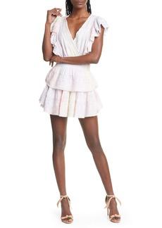 LoveShackFancy Gwen Ruffle Cotton Eyelet Minidress