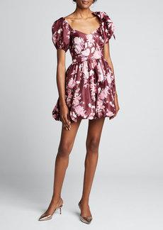 LoveShackFancy Hansel Floral-Print Fit & Flare Dress