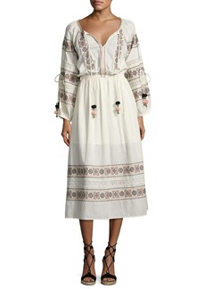 Loveshackfancy Isla Embroidered Cotton Dress