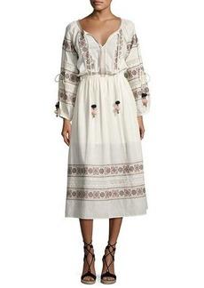 Loveshackfancy Isla Embroidered Cotton Dress