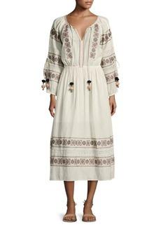 LOVESHACKFANCY Isla Embroidered Dress