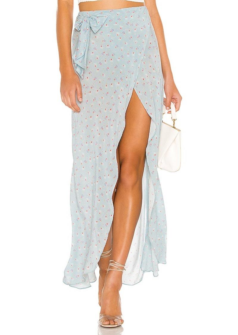 LoveShackFancy Jolene Silk Skirt
