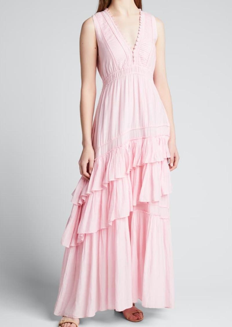 LoveShackFancy Jordie Tiered Ruffle Maxi Dress