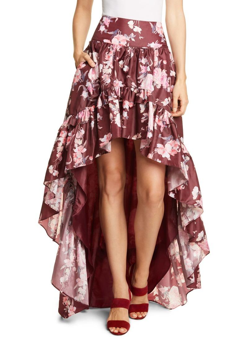 LoveShackFancy Kalista High/Low Ruffle Skirt