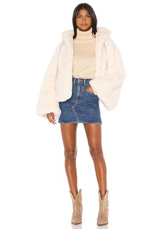 LoveShackFancy Kiernan Faux Fur Jacket