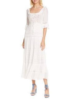 LoveShackFancy Lace Inset A-Line Dress