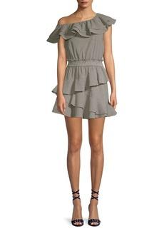 LoveShackFancy Lacey Check Ruffle Dress