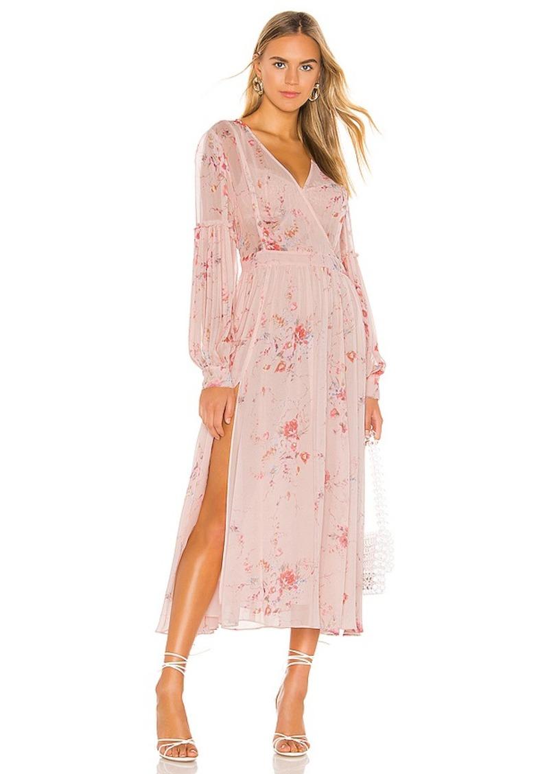LoveShackFancy Leah Silk Dress