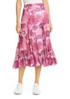 LoveShackFancy Lil Floral Silk Skirt