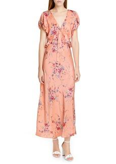 LoveShackFancy Lillian Floral Silk Maxi Dress
