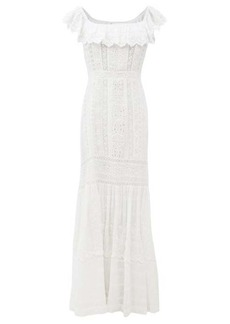 LoveShackFancy Niko broderie-anglaise cotton-voile dress