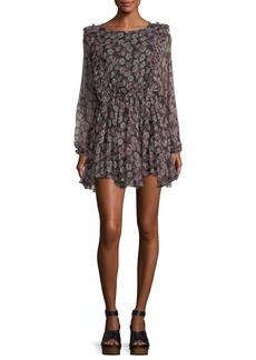 Loveshackfancy Noelle Ruffled Printed Chiffon Dress