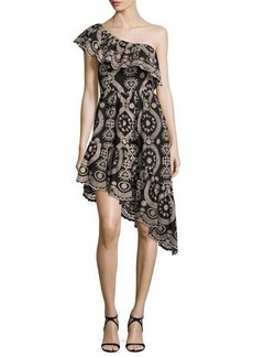 Loveshackfancy Pamela Asymmetric Embroidered Cotton Dress