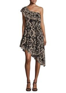 LoveShackFancy Pamela One-Shoulder Party Dress