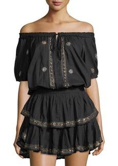 Loveshackfancy Poppy Embroidered Tiered Dress