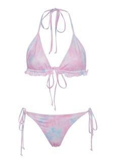 LoveShackFancy Riviera Floral-Print Bikini Set