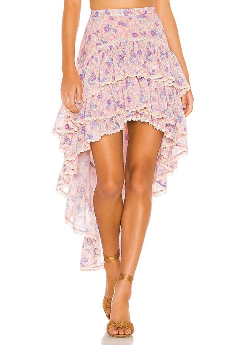 LoveShackFancy Ruffle Midi Skirt