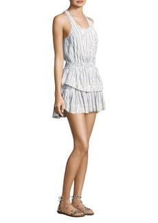 LoveShackFancy Ruffle Racer Stripe Mini Dress