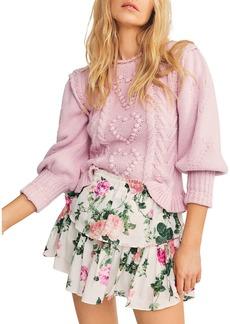 LoveShackFancy Ruffled Printed Mini Skirt
