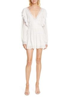 LoveShackFancy Simonna Long Sleeve Minidress