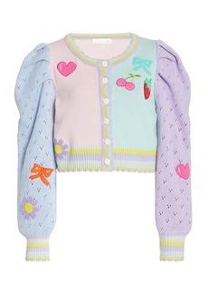 LoveShackFancy Vesper Knit Patchwork Cardigan