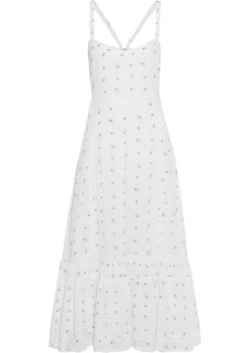 Loveshackfancy Woman Edith Lace-trimmed Printed Cotton-voile Midi Dress White