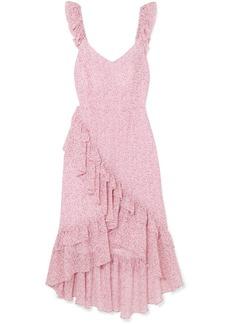 LoveShackFancy Maeve Ruffled Floral-print Silk-georgette Dress