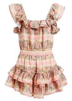 LoveShackFancy Marina Ruffle Mini Dress