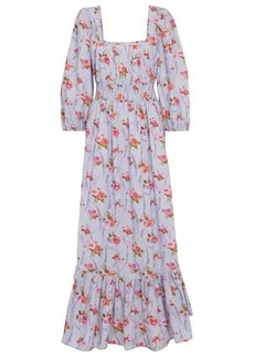 LoveShackFancy Minnia floral cotton maxi dress