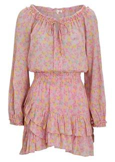LoveShackFancy Rayna Floral Cotton Mini Dress