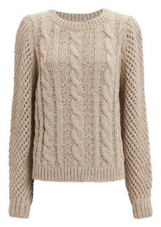 LoveShackFancy Rosie Cabled Sweater