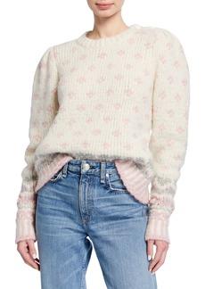 LoveShackFancy Rosie Heart & Snowflake Chunky-Knit Sweater