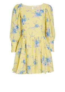LoveShackFancy Ross Floral Silk-Cotton Mini Dress