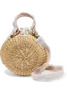 LoveShackFancy Roxy Woven Raffia Shoulder Bag