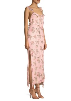 LoveShackFancy Sally Floral Maxi Dress