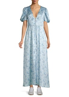 LoveShackFancy Stacy Silk Maxi Dress