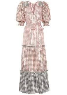 LoveShackFancy Stormi metallic silk-blend maxi dress