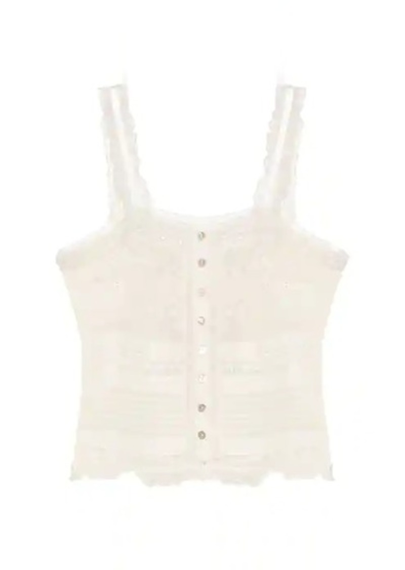 Sully cotton-lace top
